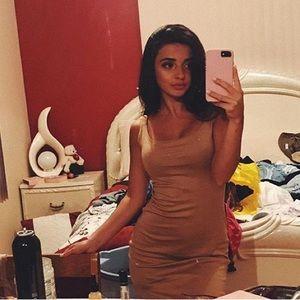 Zara nude dress
